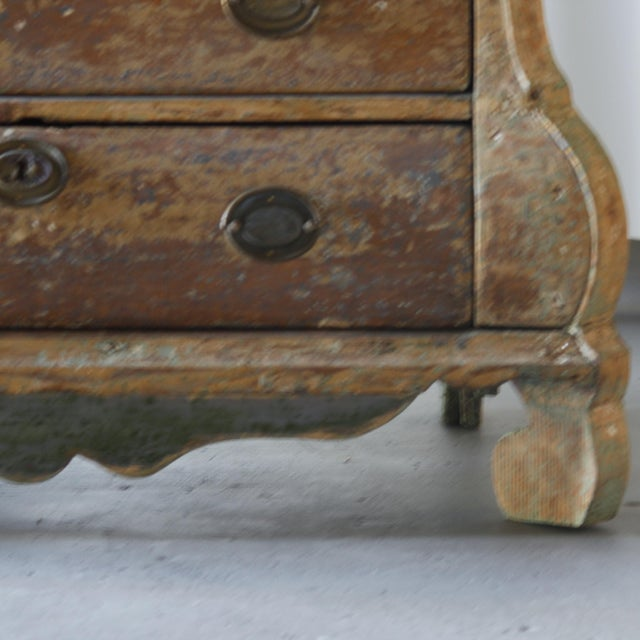 Gustavian (Swedish) Dutch Rococo Painted Desk For Sale - Image 3 of 9