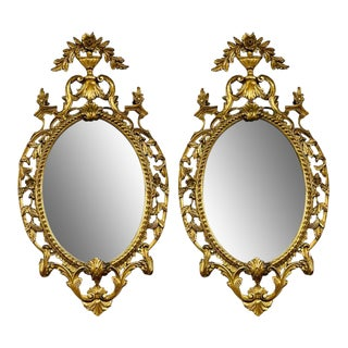 Pair Gilt Wood Wall or Console Mirrors For Sale