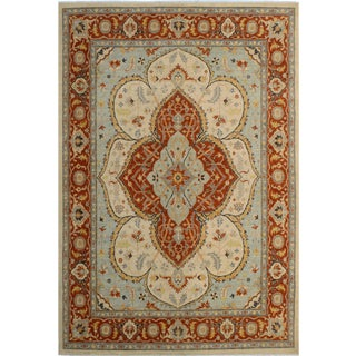 Kafkaz Peshawar Lindy Ivory/Rust Hand-Knotted Rug - 8'0 X 10'1