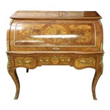 Image of Antique Traditional Roll Top Desk For Sale