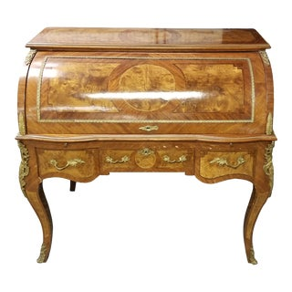 Antique Traditional Roll Top Desk For Sale