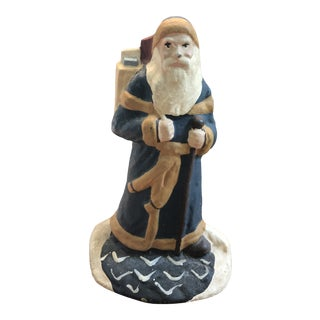 Painted Iron Santa Doorstop For Sale