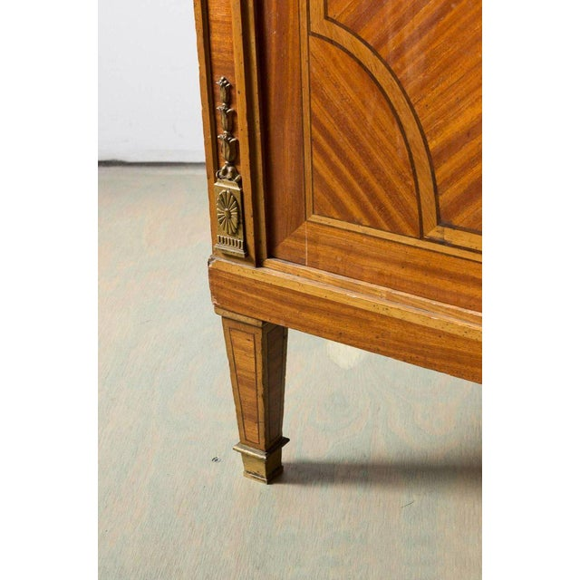 Brass French Cabinet With Marble Top For Sale - Image 7 of 12