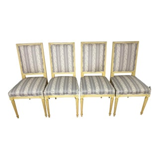 Vintage Regency Empire Dining Chairs - Set of 4 For Sale