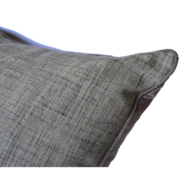 American Classical Scalamandré 100% Silk Velvet Mauve Strie Pillow For Sale - Image 3 of 10