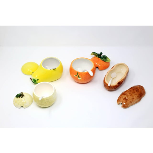 Asian Vintage Collection of Condiment Jars For Sale - Image 3 of 12