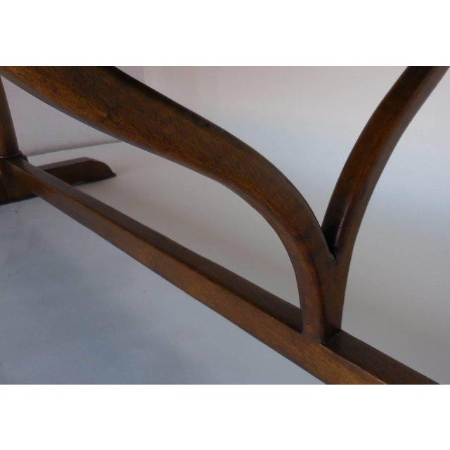 Mahogany Dos Gallos Custom Oval Wine Tasting Table in Walnut For Sale - Image 7 of 8