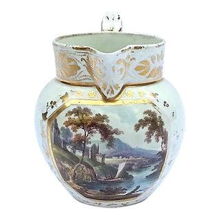 Vintage Italian Porcelain Scenic Pitcher