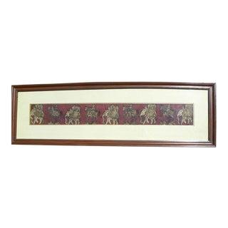 18th Century Framed Kalamkari Textile, Moghul Empire For Sale