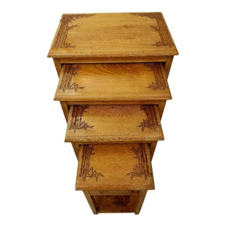 Asian Nesting End Tables by George Zee - Set of 4