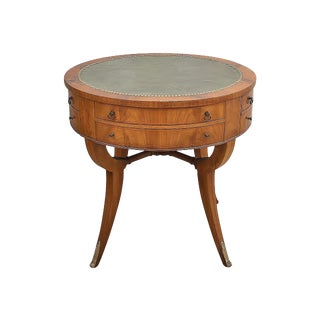 Vintage Weiman Solid Wood Empire Style Accent Table For Sale