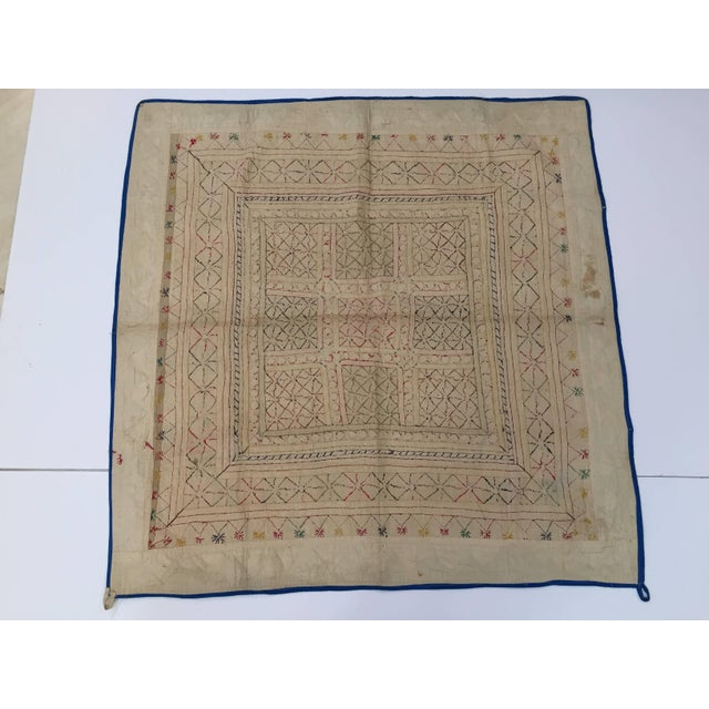 Late 19th Century Embroidered Ceremonial Chakla Cloth Textile For Sale - Image 9 of 11
