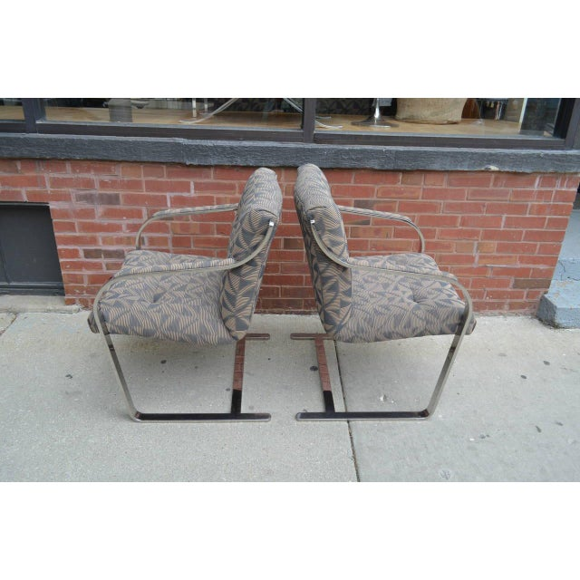 Mid-Century Modern Chrome Dining Chairs by Brueton Eight Available For Sale - Image 3 of 8