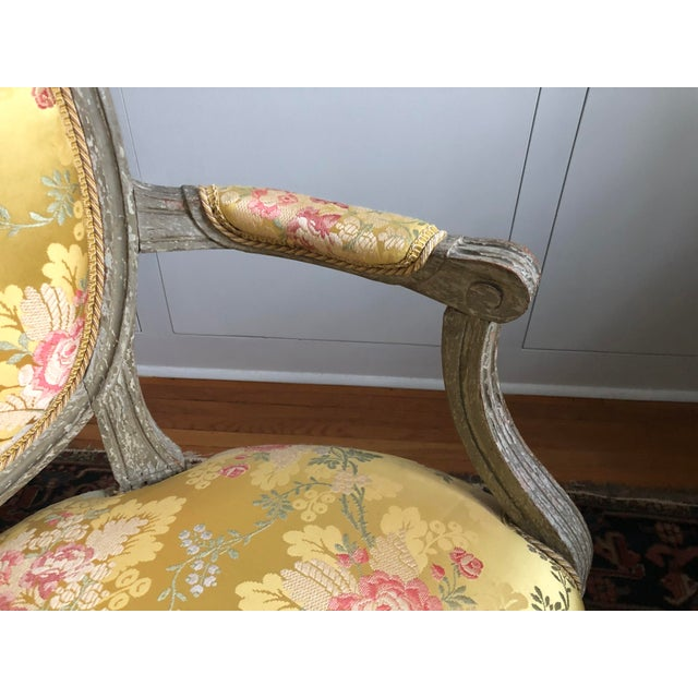 18th Century Vintage Louis XVI 1760s French Fauteuils- A Pair For Sale - Image 9 of 12