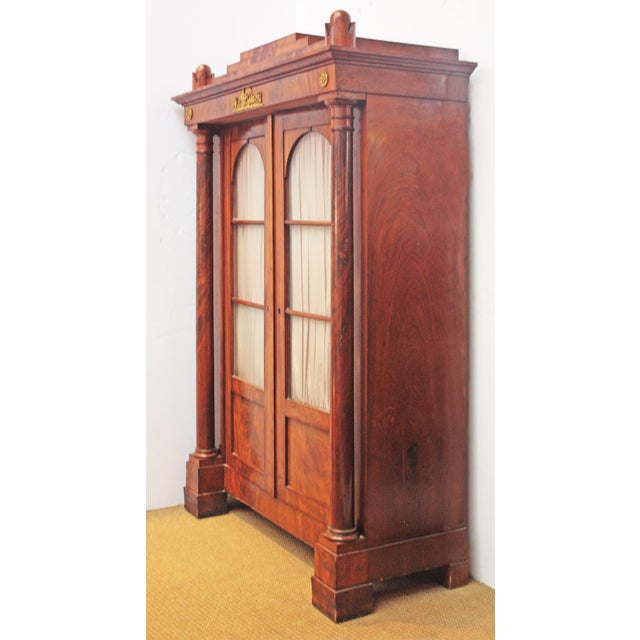19th Century Biedermeier Bibliotheque of Figured Mahogany For Sale - Image 4 of 10