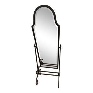 Pottery Barn Full Length Iron Mirror For Sale
