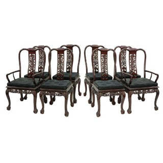 Chinese Chippendale Style Mahogany Dining Chairs - Set of 8 Preview