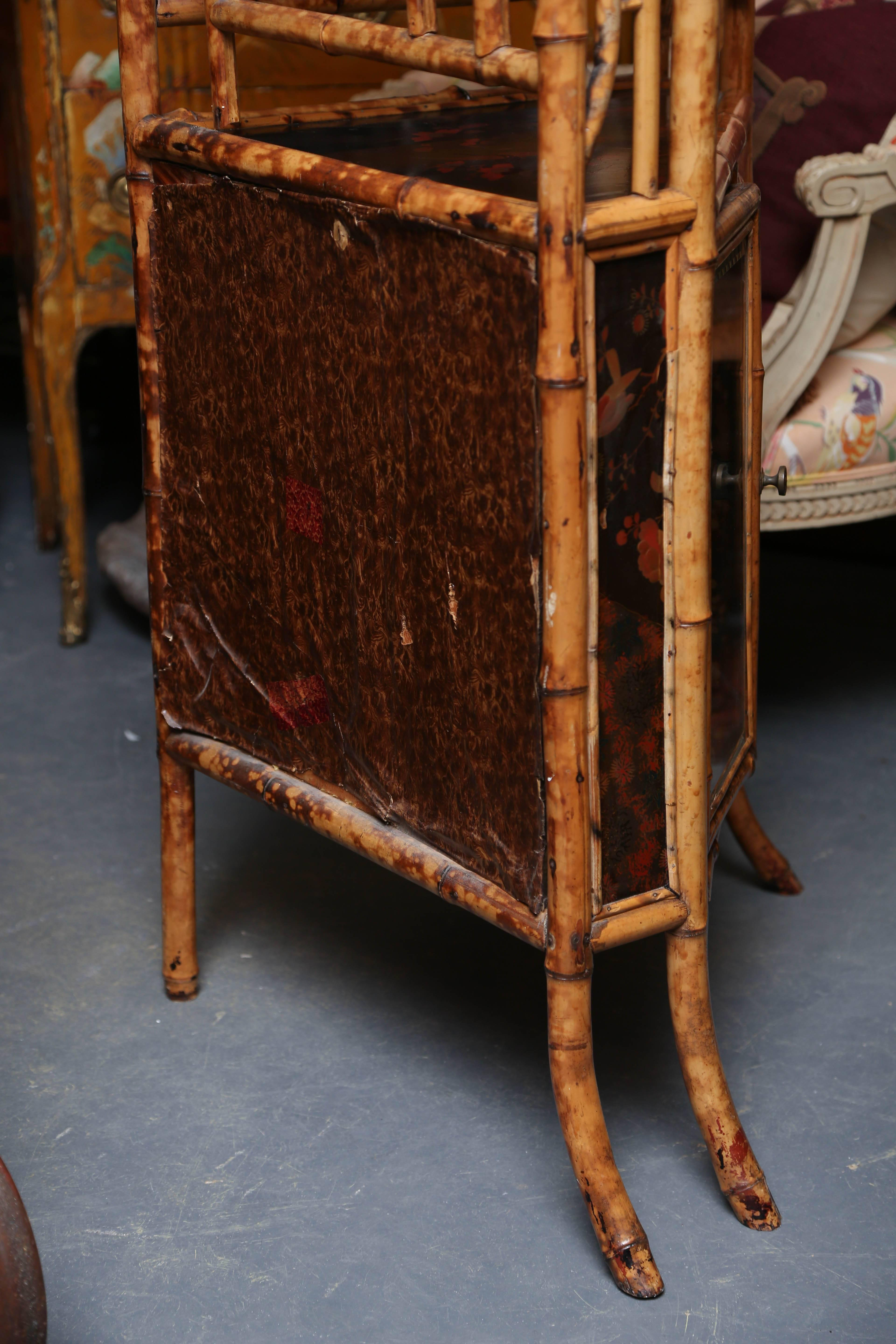 Superb 19th Century English Bamboo Corner Cabinet For Sale   Image 4 Of 8