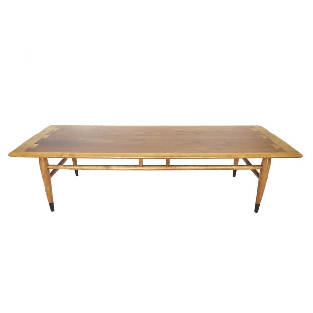 Mid-Century Ash and Walnut Coffee Table by Lane - Image 2 of 9