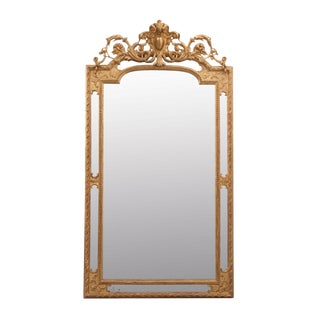 French 19th Century Louis XV Style Gold Gilt Paraclose Mirror For Sale