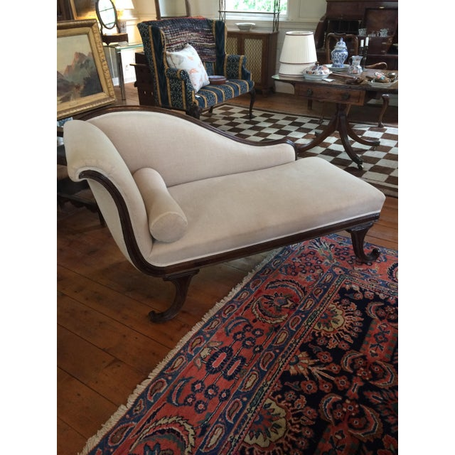Late 19th Century English Mahogany Chaise For Sale - Image 4 of 4