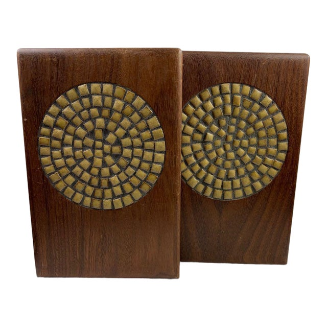 1960s Mid-Century Modern Jane and Gordon Martz Mosaic Bookends - a Pair For Sale
