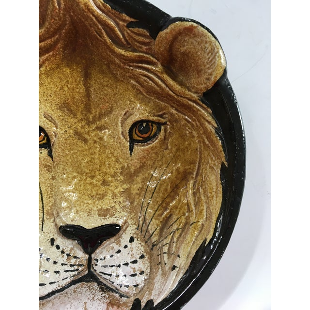 Mid-Century Italian Hollywood Regency Lion Decorative Bowl/Catchall For Sale - Image 6 of 12