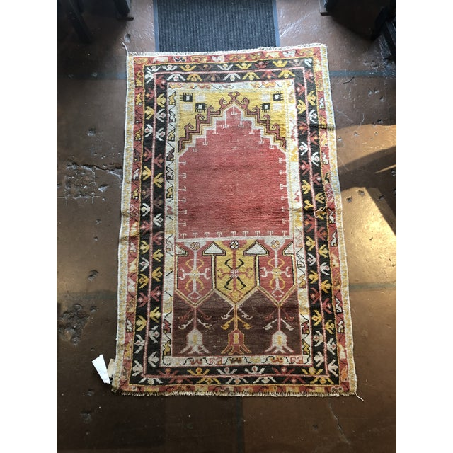 Antique Turkish Wool Prayer Rug For Sale - Image 9 of 9