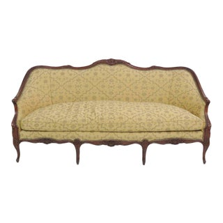 Louis XV Style Carved Walnut Sofa For Sale