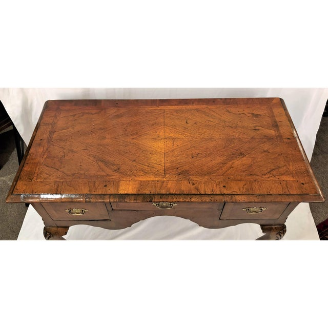 English Traditional Antique English Walnut Lowboy Chest, Circa 1860's For Sale - Image 3 of 5