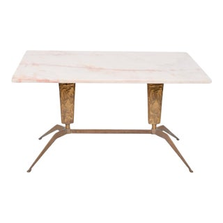 1950s Gio Ponti Modernism Italian Marble Coffee Table For Sale
