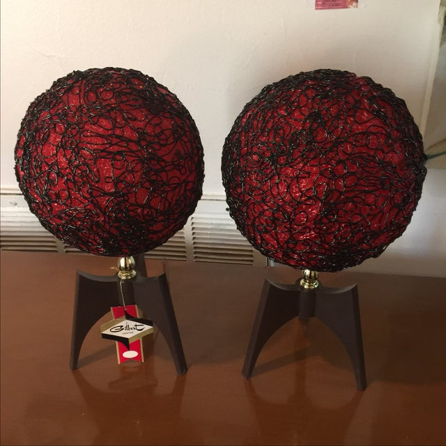 Gilbert Creation Vintage Spaghetti Lamps - A Pair For Sale - Image 4 of 8