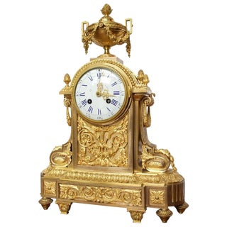 Early 19th Century Antique French Napoleon III Period Mantel Clock For Sale