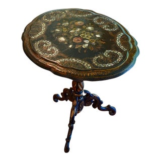 Victorian Papier-Mache & Mother of Pearl Table