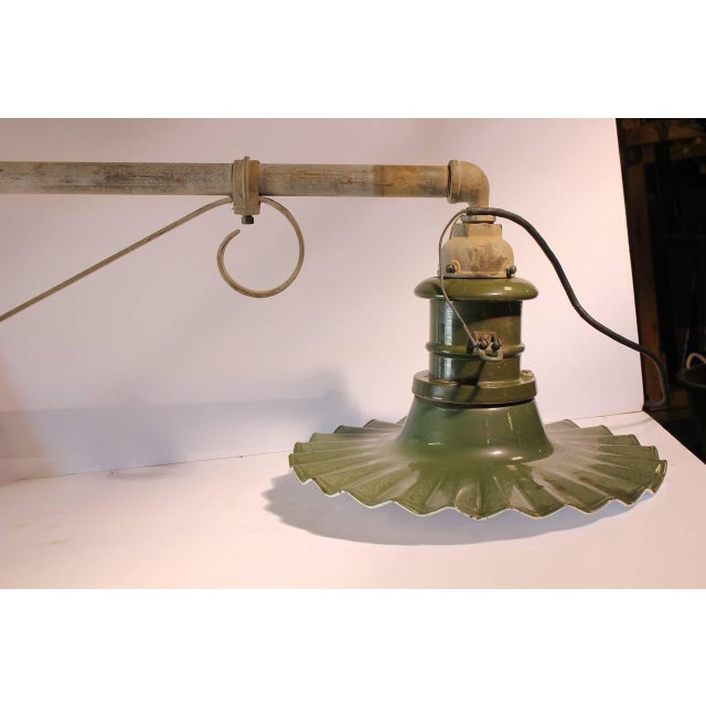 Early 20th C. Antique American Industrial City Street Wall Sconce For Sale - Image 4 of 4