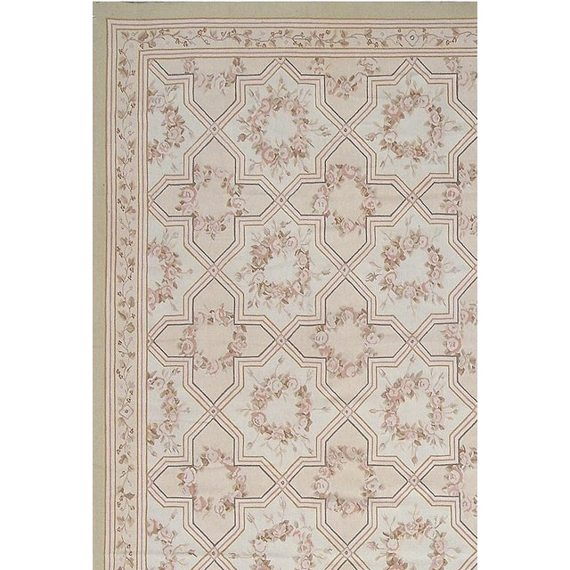 "Pasargad Aubusson Hand-Woven Wool Runner - 2'11"" x 10' 2"" - Image 2 of 3"