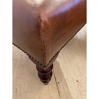 1950s Vintage George Smith Leather Ottoman Bench Preview