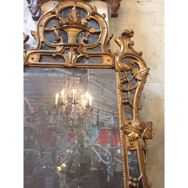 1960s Vintage French Gilt-Wood W/Fruit Basket Motif Mirror For Sale - Image 5 of 6