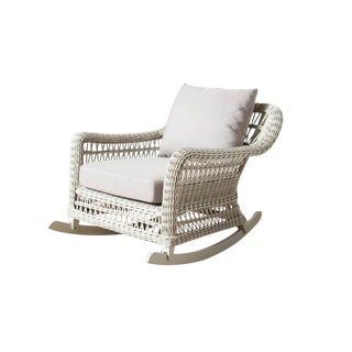 Modern Woven Outdoor Rocking Chair For Sale