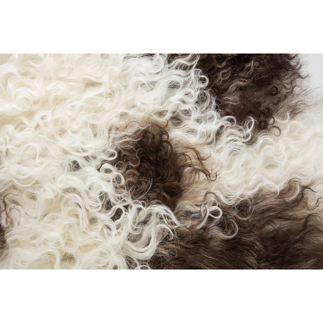 """Contemporary Natural Wool Sheepskin Pelt -2'3""""x3'0"""" For Sale - Image 4 of 6"""