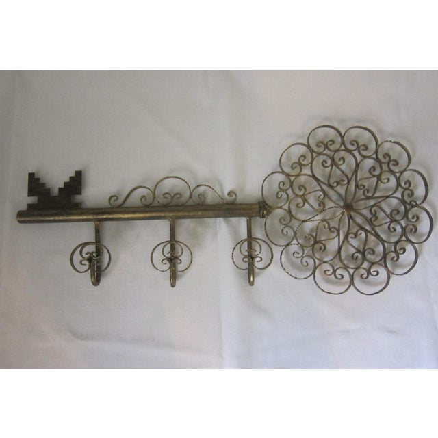Italian Tole Wall Hook For Sale - Image 6 of 6
