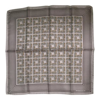 Beautiful Louis Vuitton Vintage Silk Pocket Square For Sale