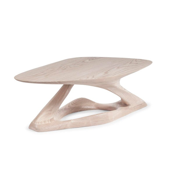 Tan Amorph Plie´ Coffee Table, Natural Stained For Sale - Image 8 of 10
