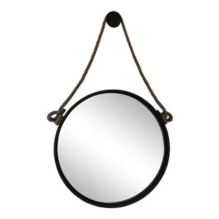 Restoration Hardware Iron and Rope Mirror For Sale
