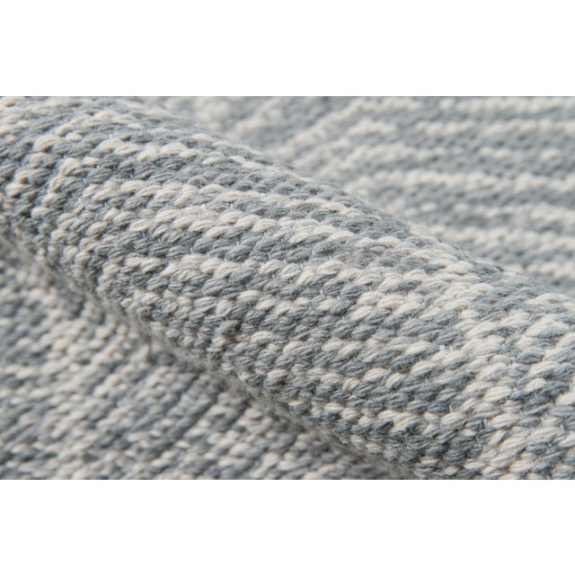 Erin Gates by Momeni Easton Congress Grey Indoor/Outdoor Hand Woven Area Rug - 7′6″ × 9′6″ For Sale - Image 4 of 7