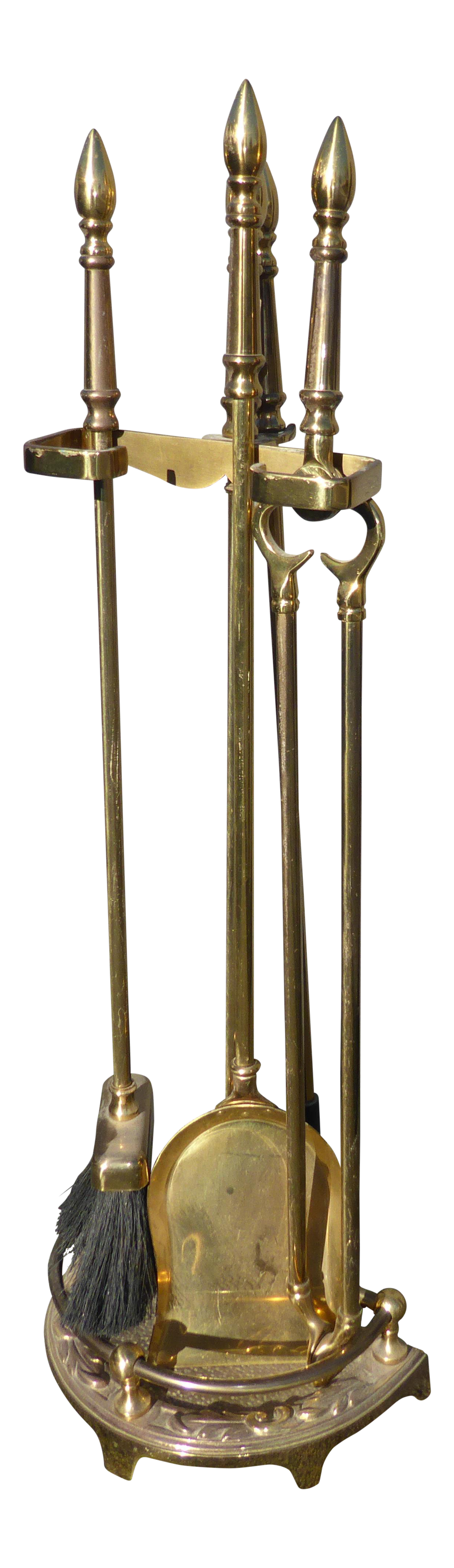 Vintage Brass Fireplace Tools Set Of 4 Chairish