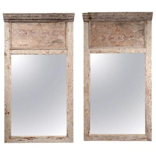 Pair of Large Architectural Paneled Mirrors For Sale