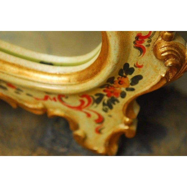 Gold Venetian Chinoiserie Gilt and Lacquered Mirror For Sale - Image 8 of 10