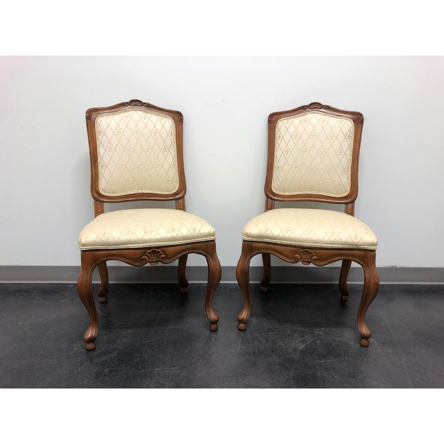 Baker French Country Dining Side Chairs - Pair 1 For Sale - Image 11 of 12
