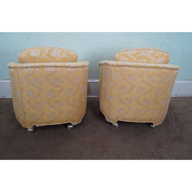 Mid-Century Barrel Back Lounge Chairs - Pair - Image 4 of 10